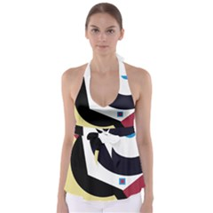 Digital Abstraction Babydoll Tankini Top