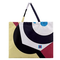 Digital Abstraction Zipper Large Tote Bag