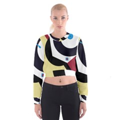 Digital abstraction Women s Cropped Sweatshirt