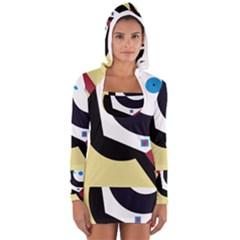 Digital abstraction Women s Long Sleeve Hooded T-shirt