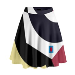 Digital Abstraction High Waist Skirt