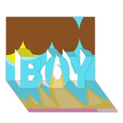 Abstract landscape  BOY 3D Greeting Card (7x5)