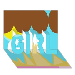 Abstract landscape  GIRL 3D Greeting Card (7x5)