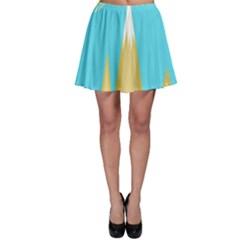 Abstract landscape  Skater Skirt