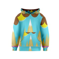 Abstract landscape  Kids  Pullover Hoodie