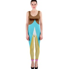 Abstract landscape  OnePiece Catsuit