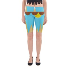 Abstract landscape  Yoga Cropped Leggings