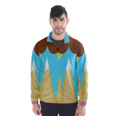 Abstract landscape  Wind Breaker (Men)
