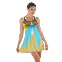 Abstract landscape  Racerback Dresses