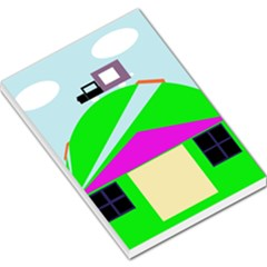 Abstract landscape  Large Memo Pads