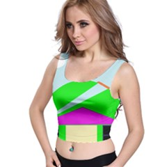 Abstract landscape  Crop Top