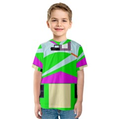 Abstract landscape  Kid s Sport Mesh Tee
