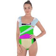 Abstract landscape  Short Sleeve Leotard