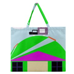 Abstract landscape  Zipper Large Tote Bag