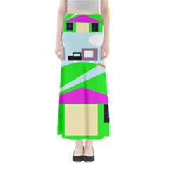 Abstract Landscape  Maxi Skirts