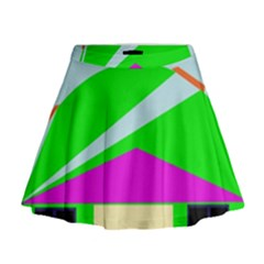 Abstract Landscape  Mini Flare Skirt