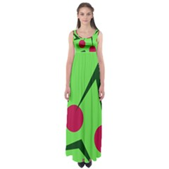 Cherries  Empire Waist Maxi Dress
