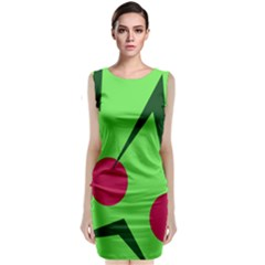Cherries  Classic Sleeveless Midi Dress