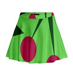 Cherries  Mini Flare Skirt