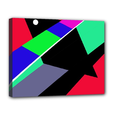 Abstract fish Canvas 14  x 11