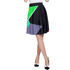 Abstract fish A-Line Skirt