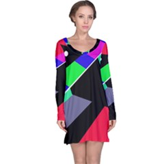 Abstract fish Long Sleeve Nightdress