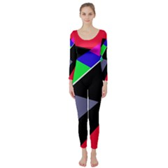 Abstract fish Long Sleeve Catsuit