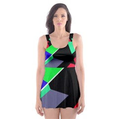 Abstract fish Skater Dress Swimsuit