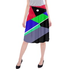 Abstract Fish Midi Beach Skirt