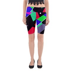Abstract fish Yoga Cropped Leggings