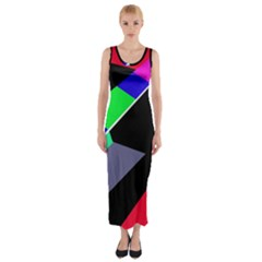 Abstract fish Fitted Maxi Dress