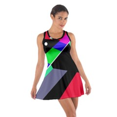 Abstract fish Racerback Dresses