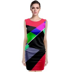 Abstract Fish Classic Sleeveless Midi Dress