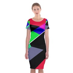 Abstract Fish Classic Short Sleeve Midi Dress