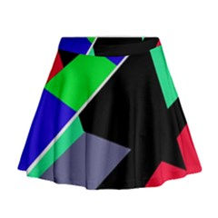 Abstract Fish Mini Flare Skirt