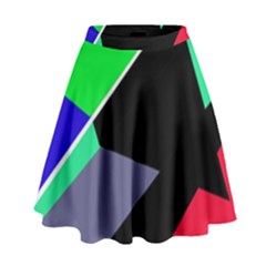 Abstract Fish High Waist Skirt