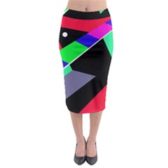 Abstract Fish Midi Pencil Skirt