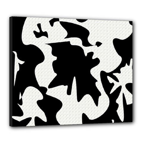 Black and white elegant design Canvas 24  x 20