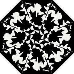 Black and white elegant design Folding Umbrellas