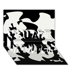 Black and white elegant design YOU ARE INVITED 3D Greeting Card (7x5)