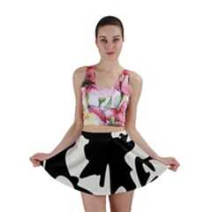 Black and white elegant design Mini Skirt