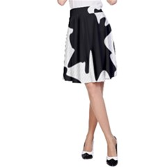 Black and white elegant design A-Line Skirt