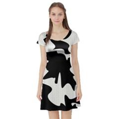 Black and white elegant design Short Sleeve Skater Dress