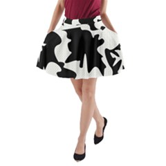 Black and white elegant design A-Line Pocket Skirt