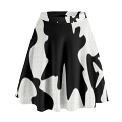 Black And White Elegant Design High Waist Skirt
