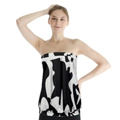 Black and white elegant design Strapless Top