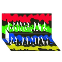 Colorful abstraction Congrats Graduate 3D Greeting Card (8x4)