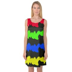 Colorful abstraction Sleeveless Satin Nightdress