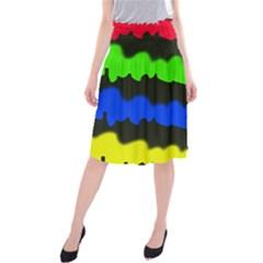 Colorful abstraction Midi Beach Skirt