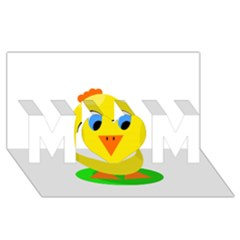 Cute chicken  MOM 3D Greeting Card (8x4)